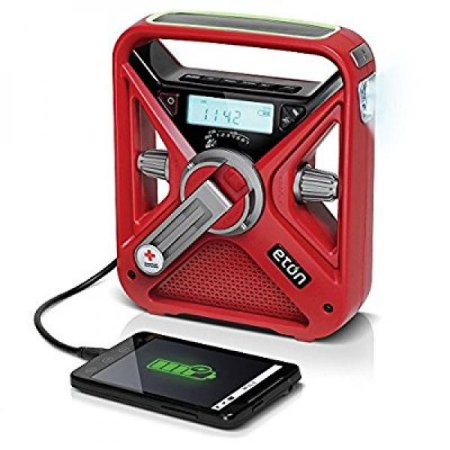 Eton ARCFRX3+WXR Glow-In-The-Dark Locater, Red All Hazard Radio, Red