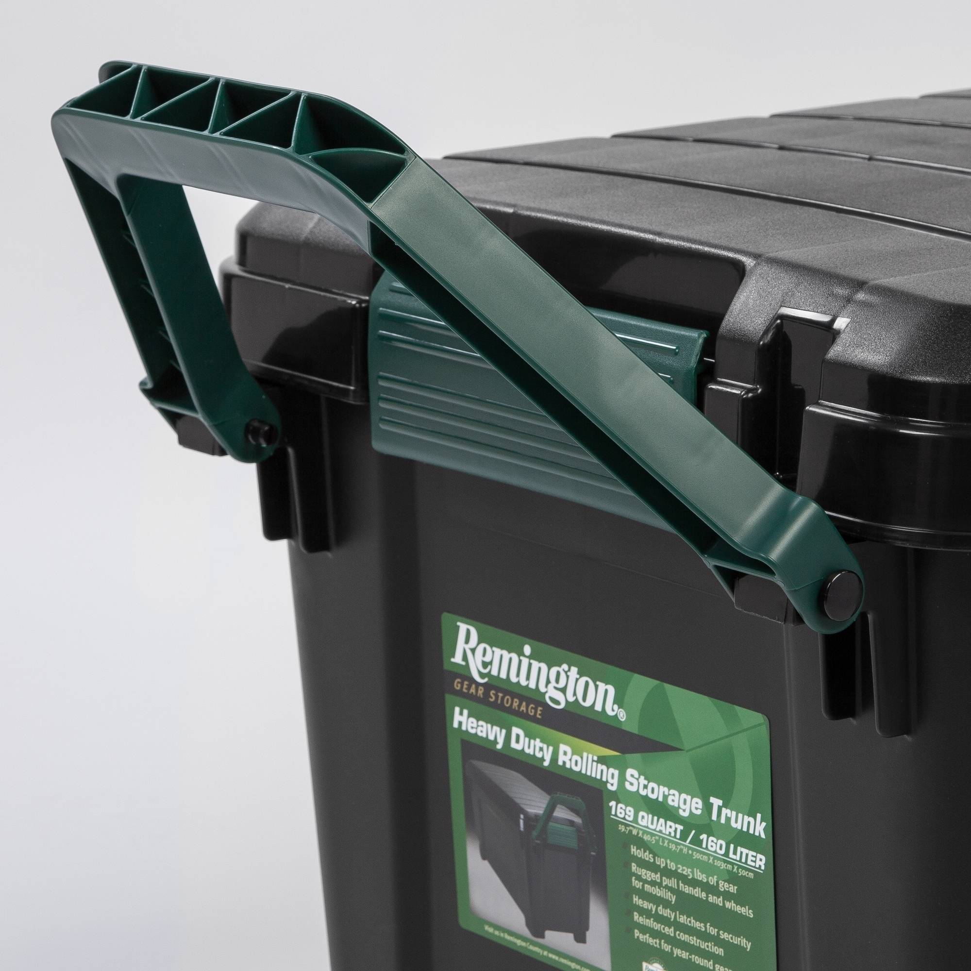 Remington 169 Qt. Plastic Storage Tote With Handle And Wheels, Green    Walmart.com