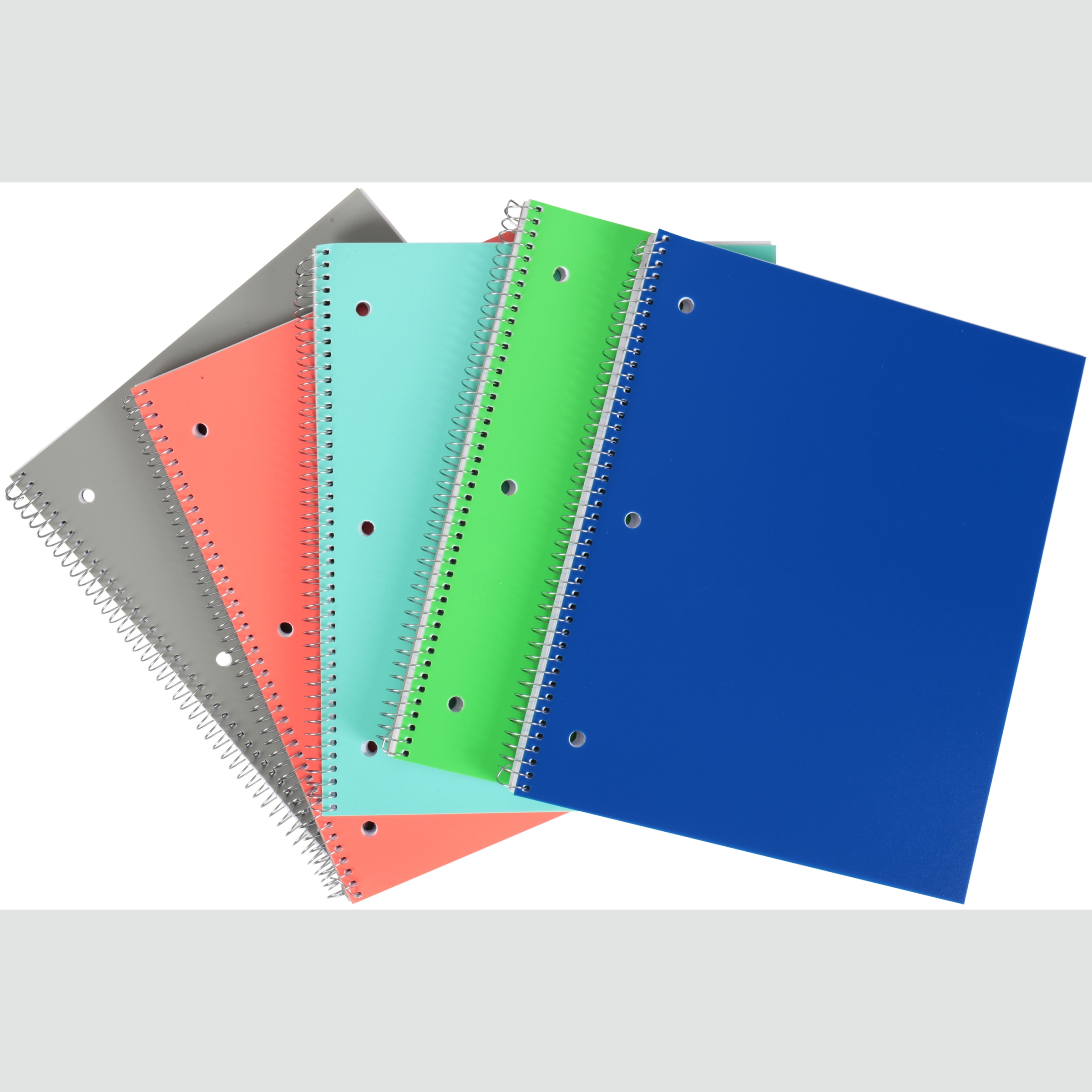 Pen + Gear 5 Pack Of 100 Page Poly Notebooks (Wide Ruled)
