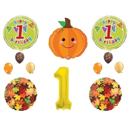 Little Pumpkin 1st Birthday Party Balloons Decoration Supplies First Patch Fall
