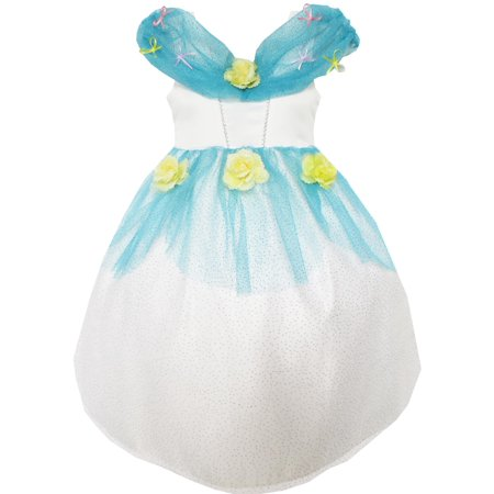 Flower Girl Dress Rose Mesh Sequin Party Blue 8