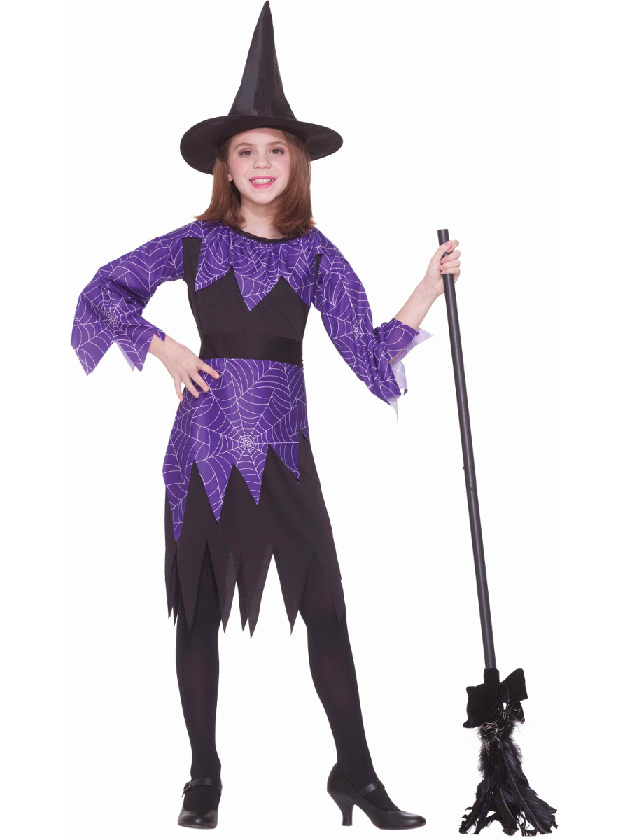 Child Girls Halloween Evil Spider Web Witch Costume Medium 8-10  sc 1 st  Walmart : bad tinkerbell costume  - Germanpascual.Com