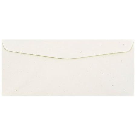 JAM Paper #10 Business Envelope, 4 1/8 x 9 1/2, Milkweed Genesis Recyled, 50/pack (10 Recycled Business Envelopes)