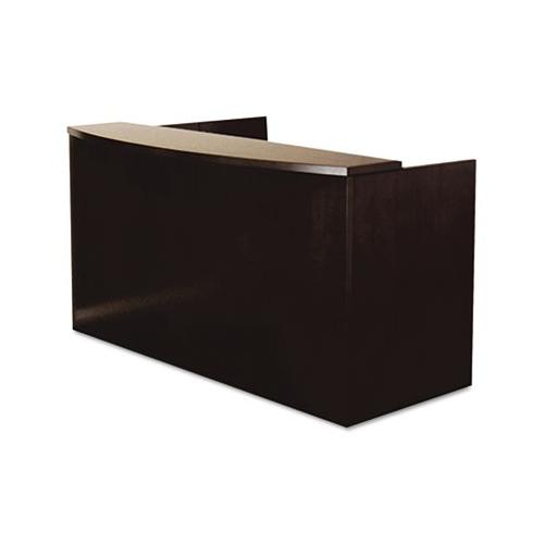 Mayline Mira Series Wood Veneer Reception Desk Shell MLNMRS7278DESP