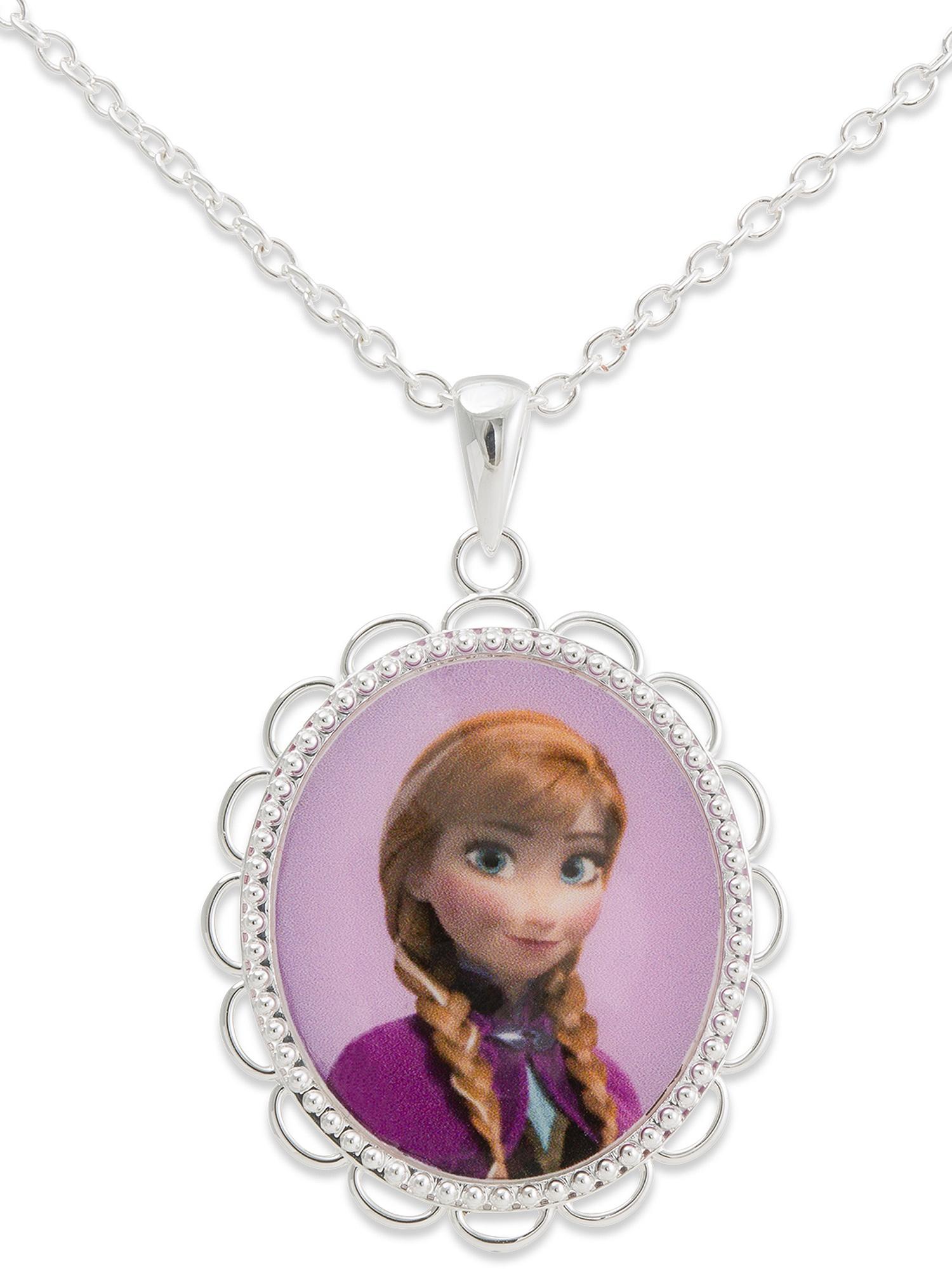 Disney Frozen Silver-Tone Princess Anna Pendant