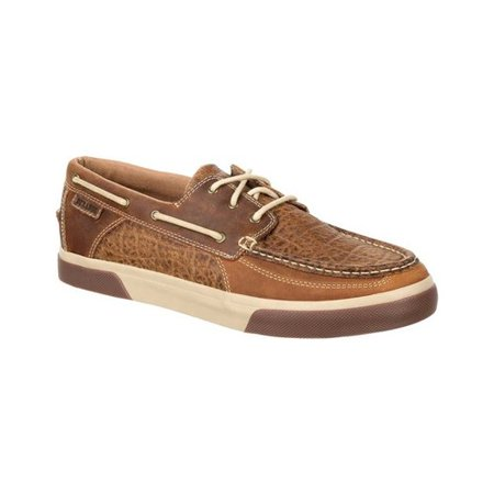 Oyster Boat Shoe (Men's Durango Boot DDB0147 Music City Western Embossed Moc Boat Shoe )
