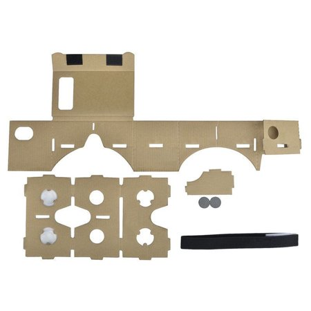 New Brown Cardboard 3D Virtual Reality Glasses High Quality Video Glasses