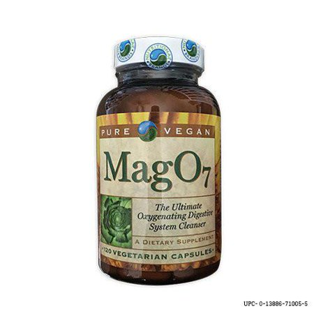 Pure Vegan Mag O7 Oxygen Detox Cleanse 120 Veg Caps