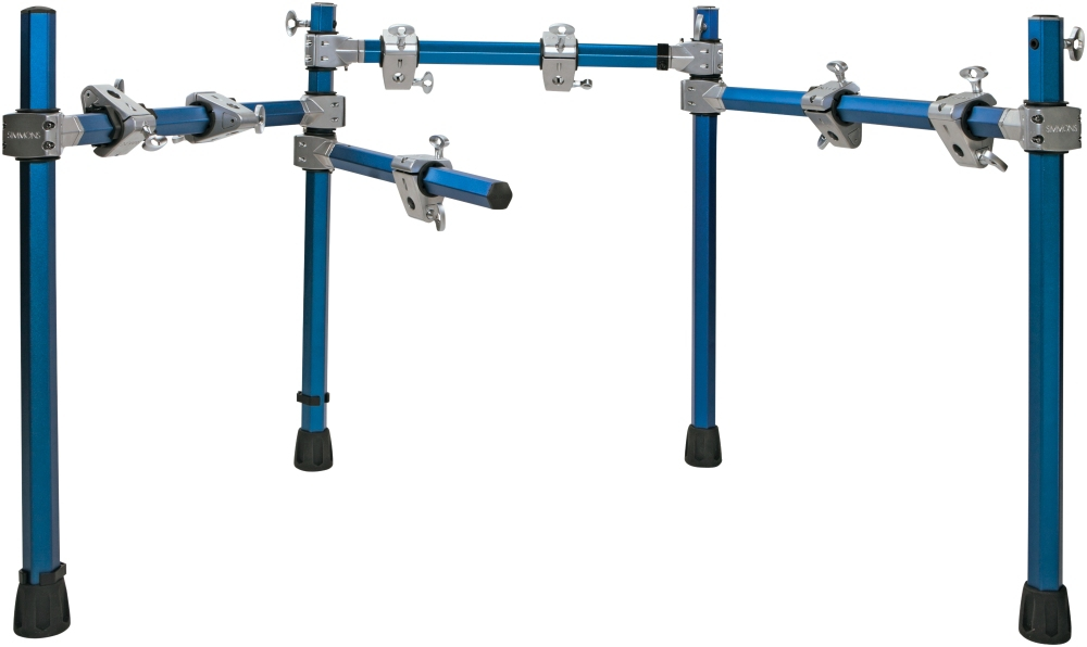 Simmons Electronic Drum Rack Blue Metallic by Simmons