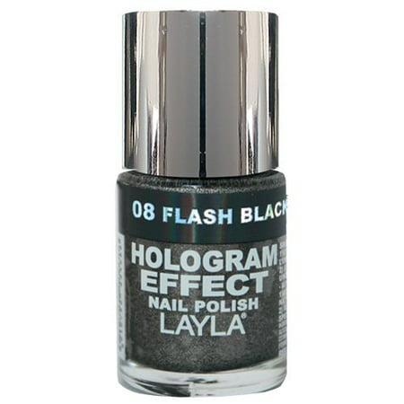 Layla Hologram Effect Nail Polish, #8 Flash Back - Layla Hologram Effect