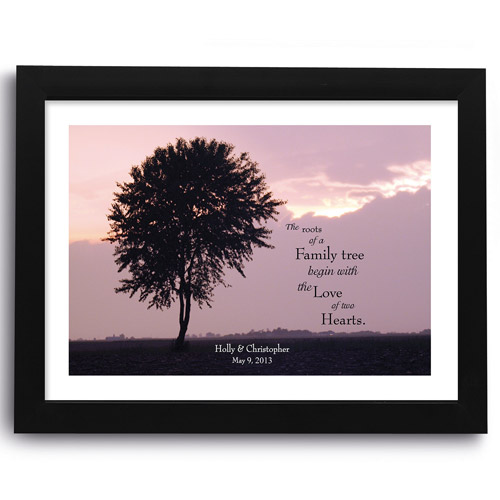 """Personalized """"Two Hearts"""" Framed Print"""