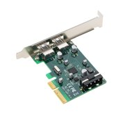 PCI-E to 2-Port USB3.1 Type A PCI Express Expansion Card USB 3.1 Hub Controller