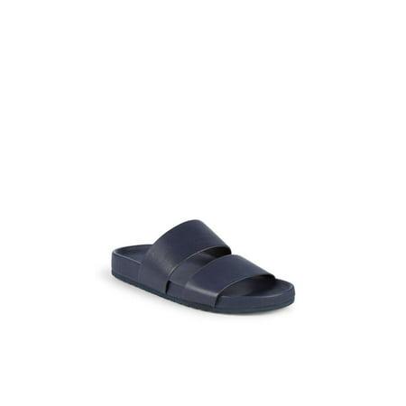 Vince Mens Georgie Leather Slip On Open Toe Sport Sandals, Coastal, Size 9.5 (Vince Stretch Leather)