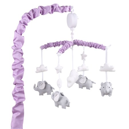 30d99ae8316 Purple Digital Musical Crib Mobile With Elephants