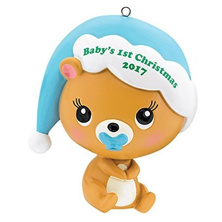 Christmas Heirloom Ornaments - Carlton Heirloom Ornament 2017 Baby's First Christmas - Boys - #CXOR008M