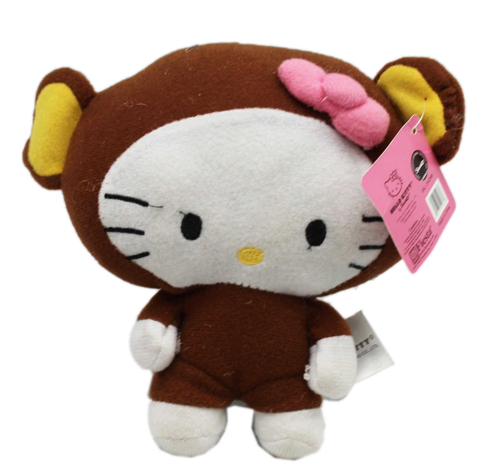 Hello Kitty In a Bear Outfit Stuffed Plush Toy (6in) by
