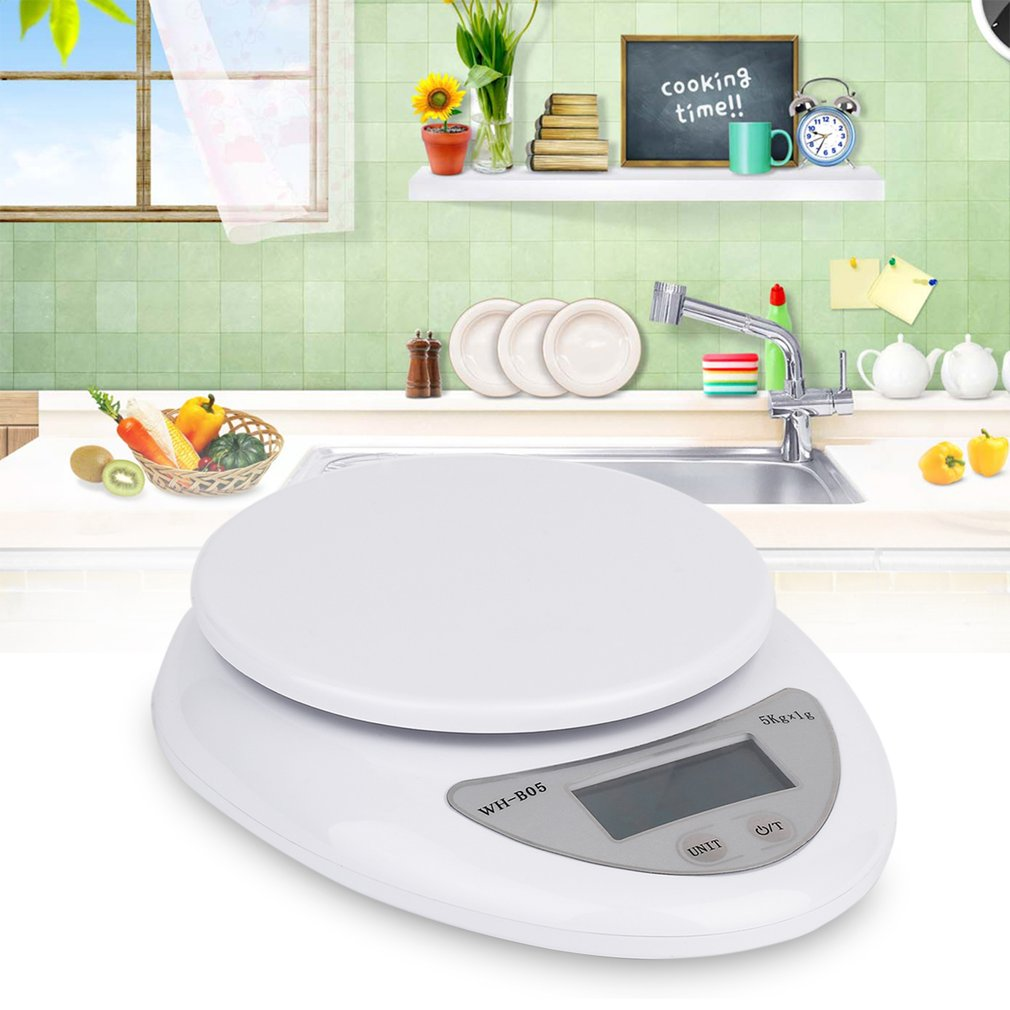5kg 5000g/1g Digital Kitchen Food Diet Postal Scale Electronic Weight Scales Balance Weighting LED Electronic WH-B05