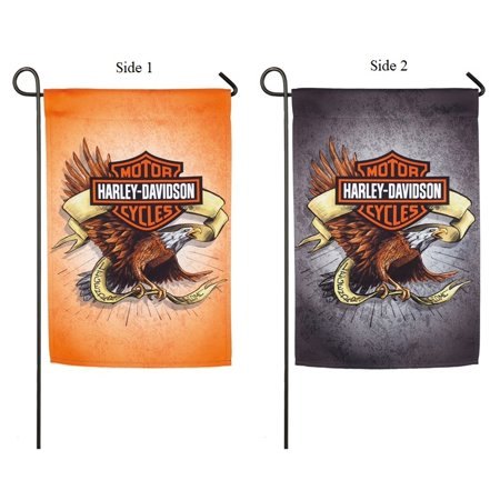 Harley Davidson Garden Flag 2 Sided Legendary Eagle Logo ()
