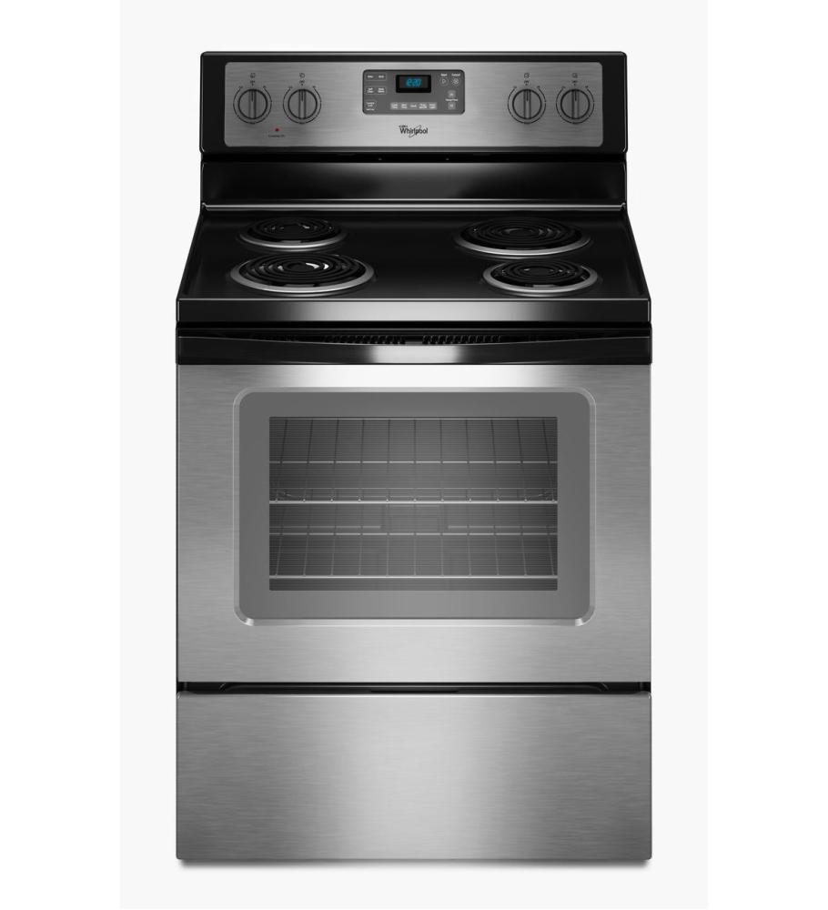 "WHIRLPOOL RANGES, OVENS & COOKTOPS 1028766 30"" Electric Range, 4.8 Cu. ft. , Self Cleaning, Stainless"