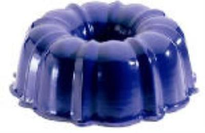 12 Cup Formed Bundt Pan Assorted Fashion Accent Exterior Colors Red Only One by