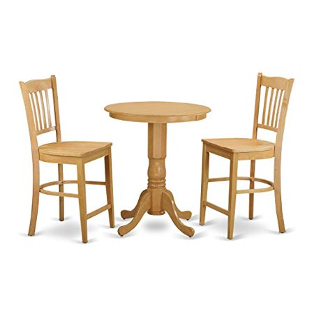 piece dining counter height set high top table and 2 dinette chairs