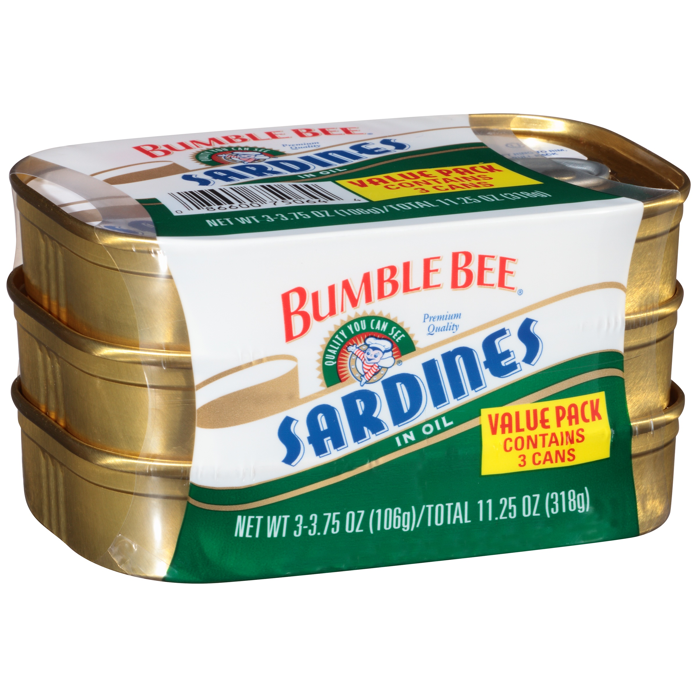 Bumble Bee Sardines in Oil 3.75oz by Bumble Bee Seafoods