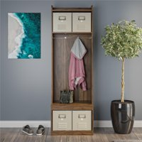 Novogratz Journey Entryway Hall Tree with Storage Bench, Multiple Options