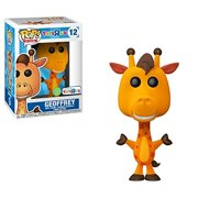 Funko Pop Ad Icons Flocked Geoffrey The Giraffe Toy R Us Exclusive Ships in 45mm Bubble Wrapped Pop Protector