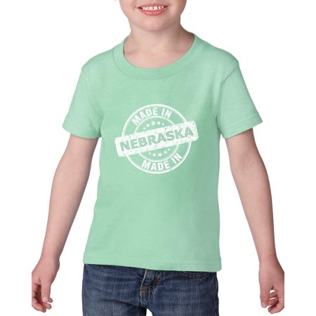 Party America Omaha Ne (Artix Made in NE Nebraska Flag Omaha Map Cornhuskers Home of University of Nebraska Heavy Cotton Toddler Kids T-Shirt Tee)