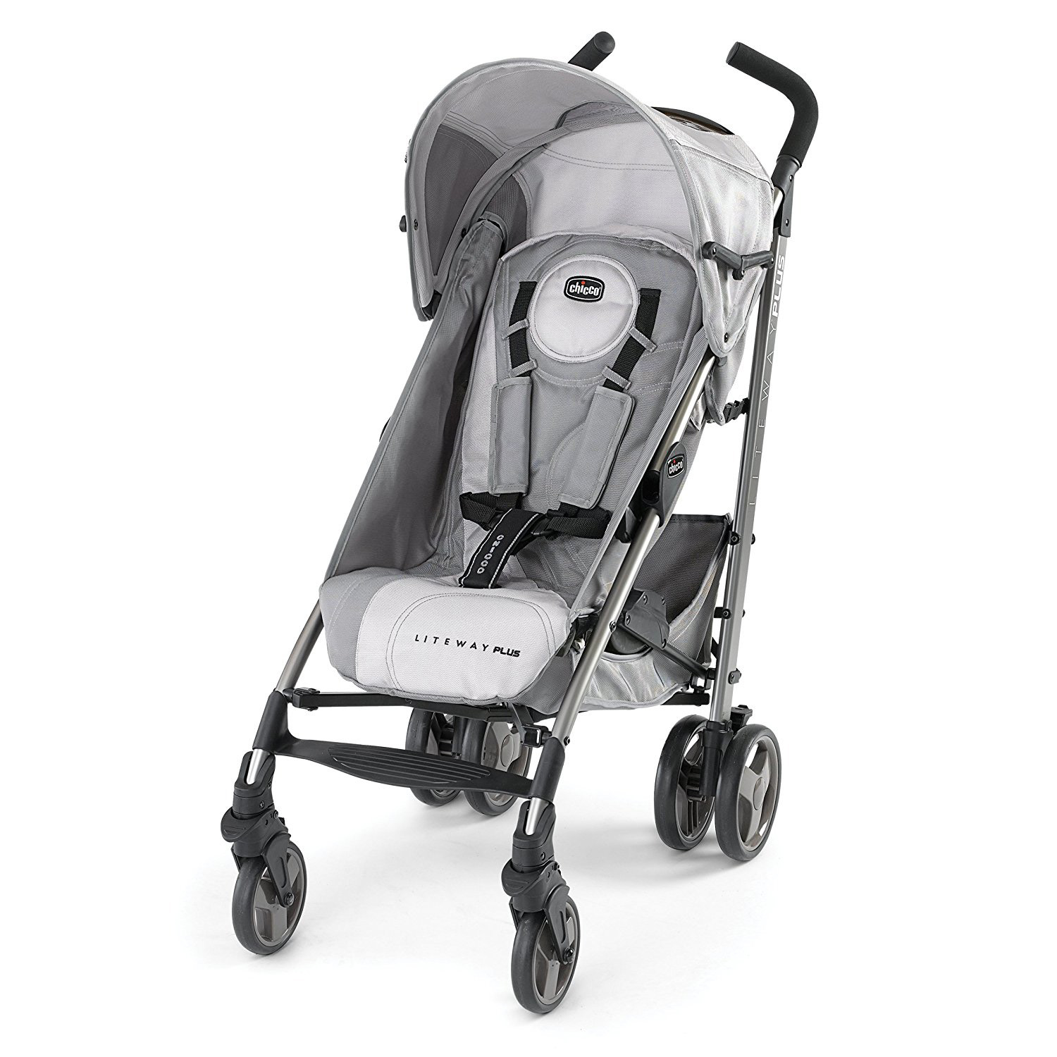 Chicco Liteway Plus 2-in-1 Car Seat Convertible Stroller, Silver | 0707931749
