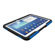 Trident Aegis Series - Back cover for tablet - silicone, hardened bio-enchanced polycarbonate - blue - for Samsung Galaxy Tab 3 (10.1 in)