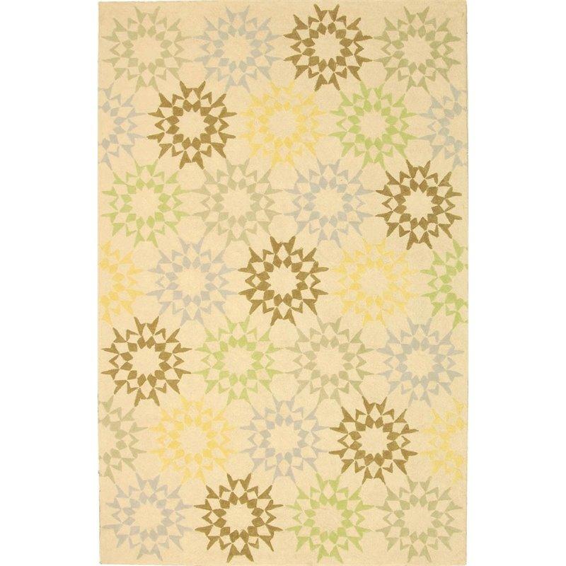 """Safavieh Martha Stewart 3'9"""" X 5'9"""" Handmade Cotton Pile Rug in Creme - image 2 de 10"""