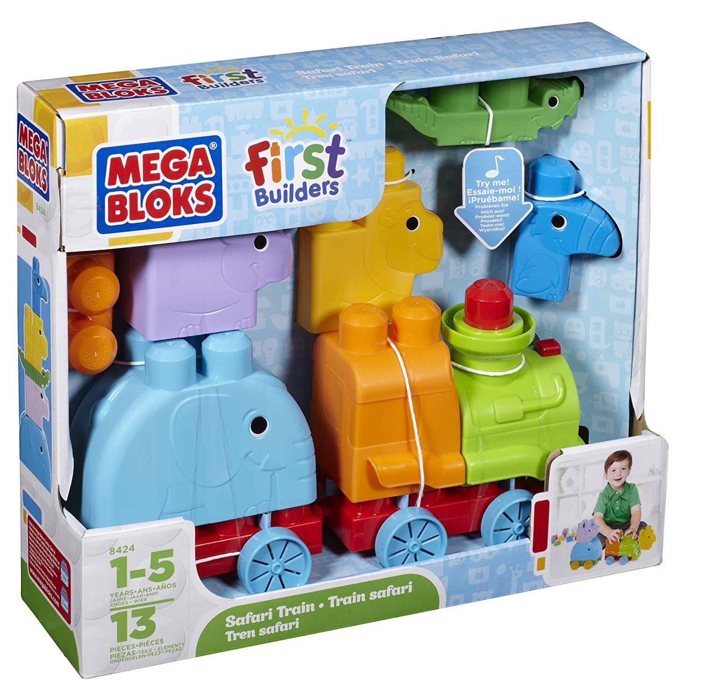 Mega Bloks First Builders Animal Safari Train Play Set