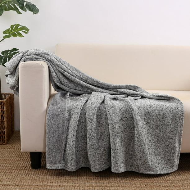 Mainstays Sweater Fleece Throw Blanket 50 X 60 Gray Walmart Com Walmart Com