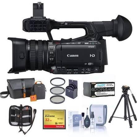 Canon XF205 HD Camcorder + 64GB MEMORY CARD + TRIPOD + VI...