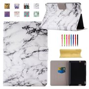 """Dteck For Kindle Fire HDX 7"""" Slim Fit Leather Standing Protective Case Hard Cover, Marble"""