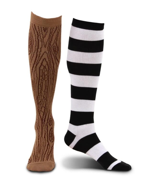Knee High Mismatched Pirate Adult Costume Socks