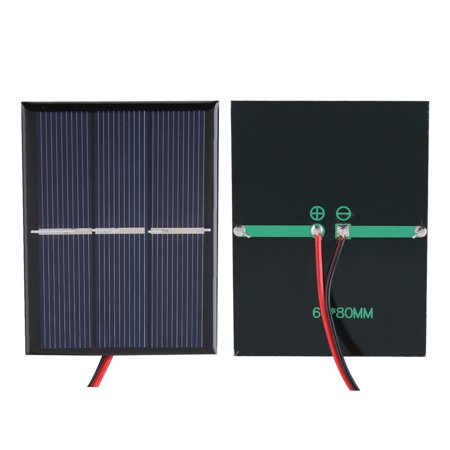 Qiilu Diy Solar Panel Mini Solar Panel 2pcs 0 65w 1 5v Mini Portable Solar Panel Diy Power Module Battery Charger