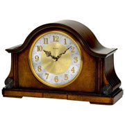 Bulova Clocks B1975 Chadbourne Desk Clock with Solid Wood and Walnut Finish