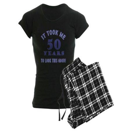 CafePress - Hilarious 50Th Birthday Gag Gifts Women's Dark Paj - Women's Dark Pajamas (Story Pad)