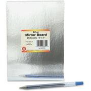 Hygloss Mirror Board, Silver, 25 / Pack (Quantity)