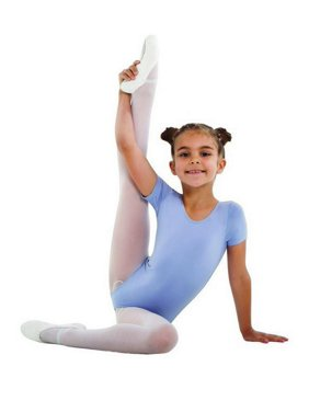 Light Blue Flotta Short Sleeve Dance Leotard 4-14