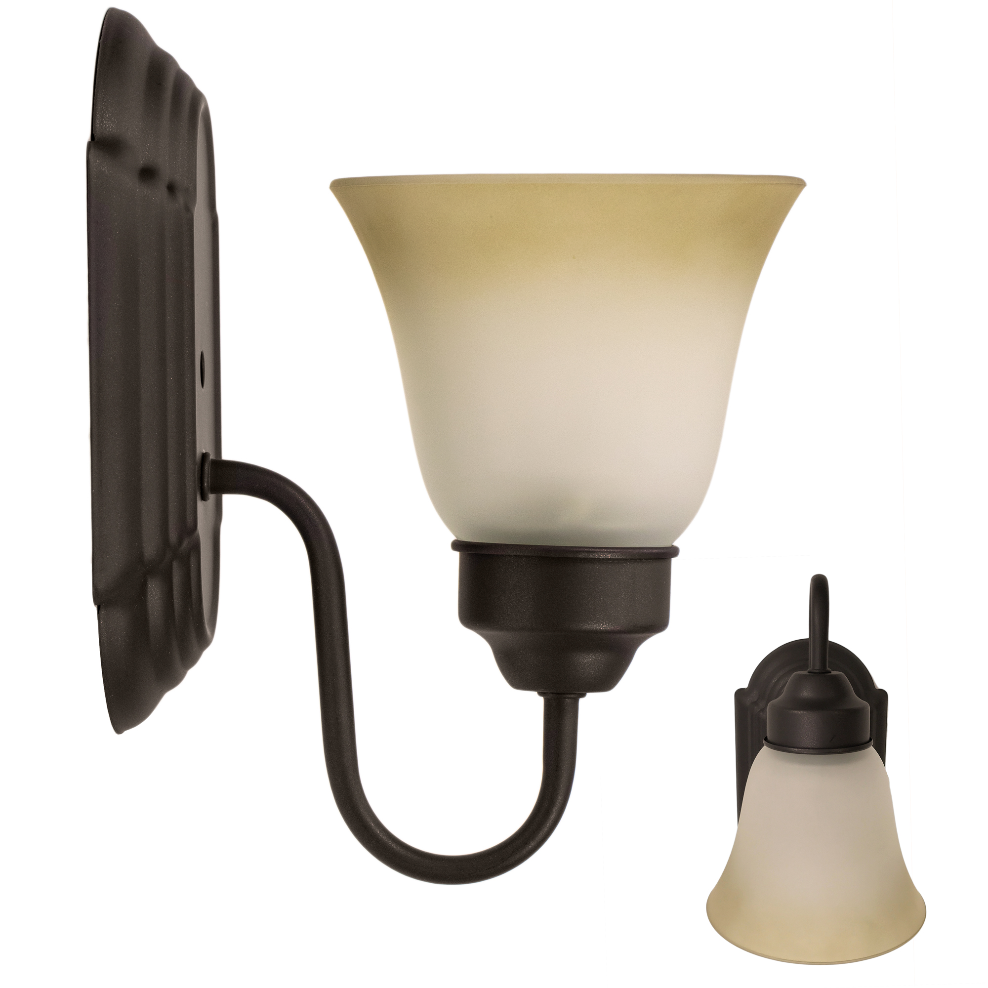 Click here to buy Bennington Luna Wall Sconce Light Fixture Single Light Vanity, Oil Rubbed Bronze.