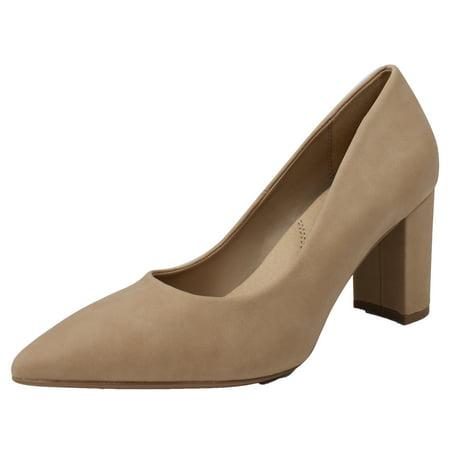 e7d8514e00c4 City Classified Women s Pointy Toe 3 Inch Block Heel High Pump ...