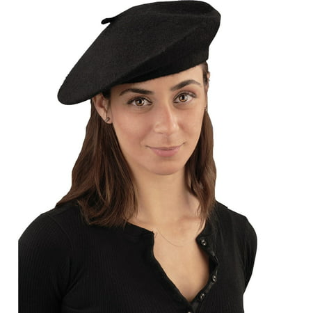 Black French Beret Hat Halloween Costume Accessory for $<!---->