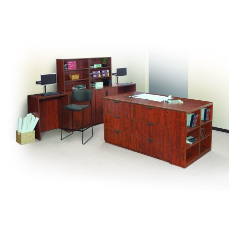 Regency Seating Legacy Stand Up Side-to-Side Storage Cabinet and Desk- (Legacy Sand)