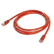 Ziotek 119 5279 CAT6 Patch Cable, with Boot 5ft, Red