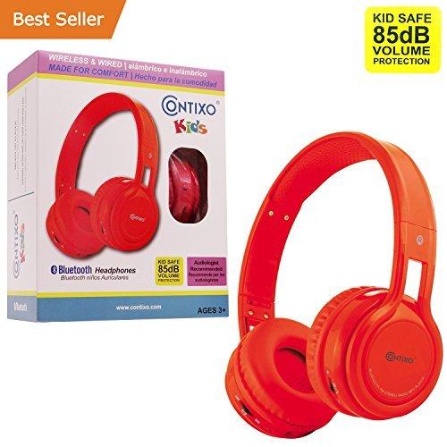 Bluetooth Headphones For Women, Red Kid-safe Radio Headphones Wireless Bluetooth
