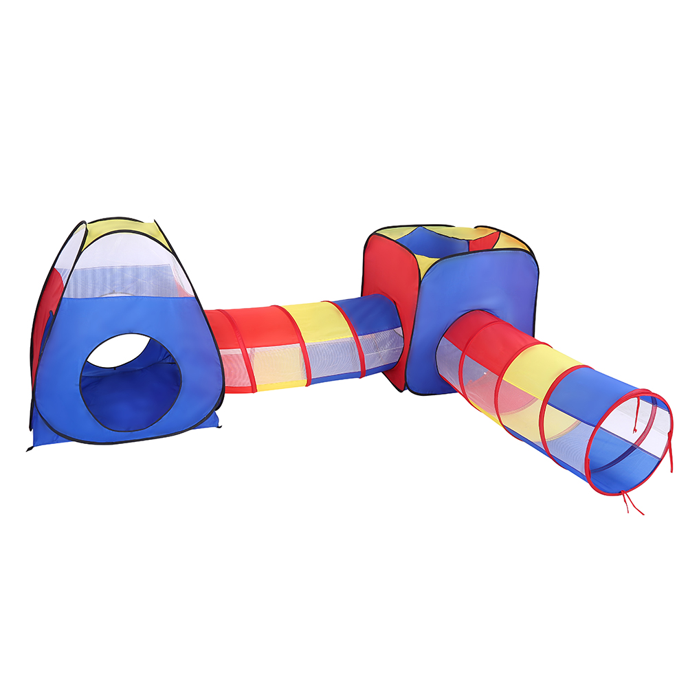 4 in 1 Kid Play Tent,Crawl House Tunnel Toys with Ocean Ball Baby Tunnel Kids Toy