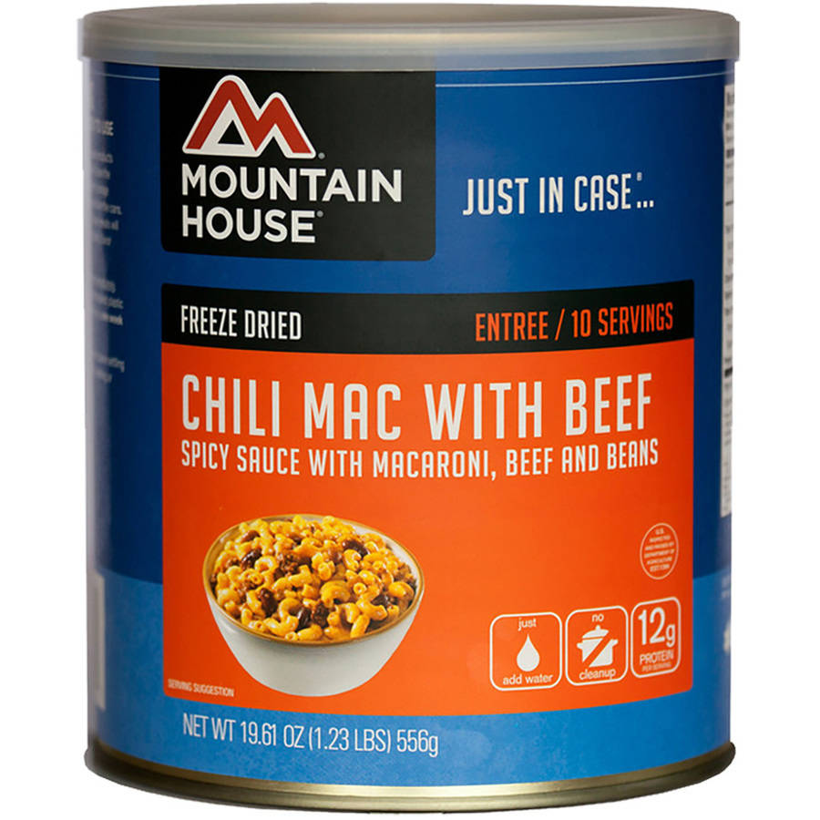 Mountain House Freeze Dried Chili Mac with Beef Can